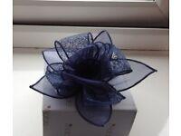 Blue hair clip flower wedding