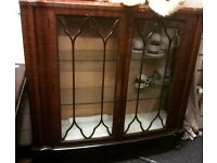 Vintage display cupboard /bookcase