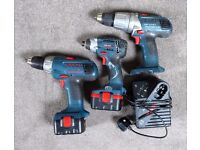 BOSCH PROFESSIONAL DRILLS & CHARGER