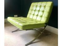 Leather green Barcelona chair (replica)