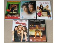 5 Dvd's, Lost In Translation,In Her Shoes,The lake House,The Family Man,the Sweetest Thing