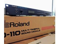 Roland D-110 LA Synthesizer Module FAULTY - BOXED (ORIGINAL PACKAGING + MANUALS)