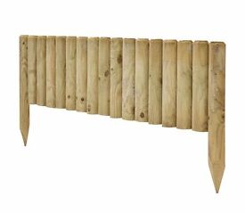 Timber boarder edging / log edging - job lot