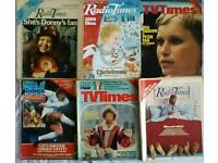 A collection of TV listings magazines from the last 55 years