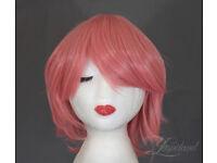 Short pastel pink wig