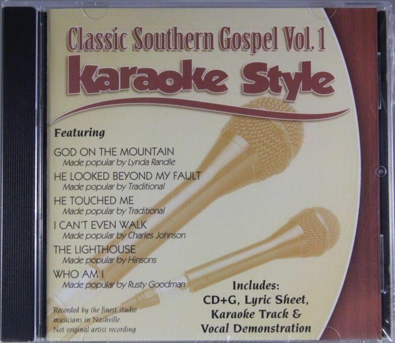 Classic Southern Gospel Volume 1 Christian Karaoke Style NEW CDG Daywind 6 Songs