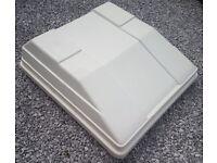 White Fibreglass Roof box for Car or Campervan