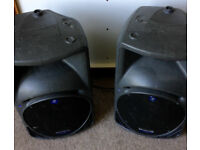 Pair of Peavey SRM 450 speakers