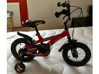 """Kids bike Red 12"""" GMT xtreme with stabilisers"""