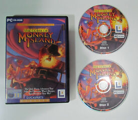The Curse of Monkey Island, 2 CDs PC game, Lucas Arts, 1997