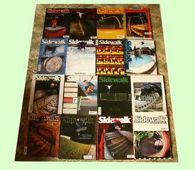 Sidewalk skateboarding magazines
