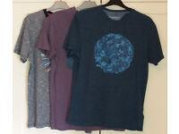 "Mens T-shirts x 3 , RJR John Rocha, Small / 38"""