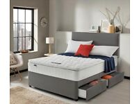DIVAN DOUBLE BED MATTRESS HEADBOARD KING SIZE BEDS SINGLE & SMALL SINGLE BEDS Free Delivery