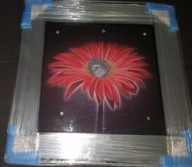 Mirrored crystal art picture