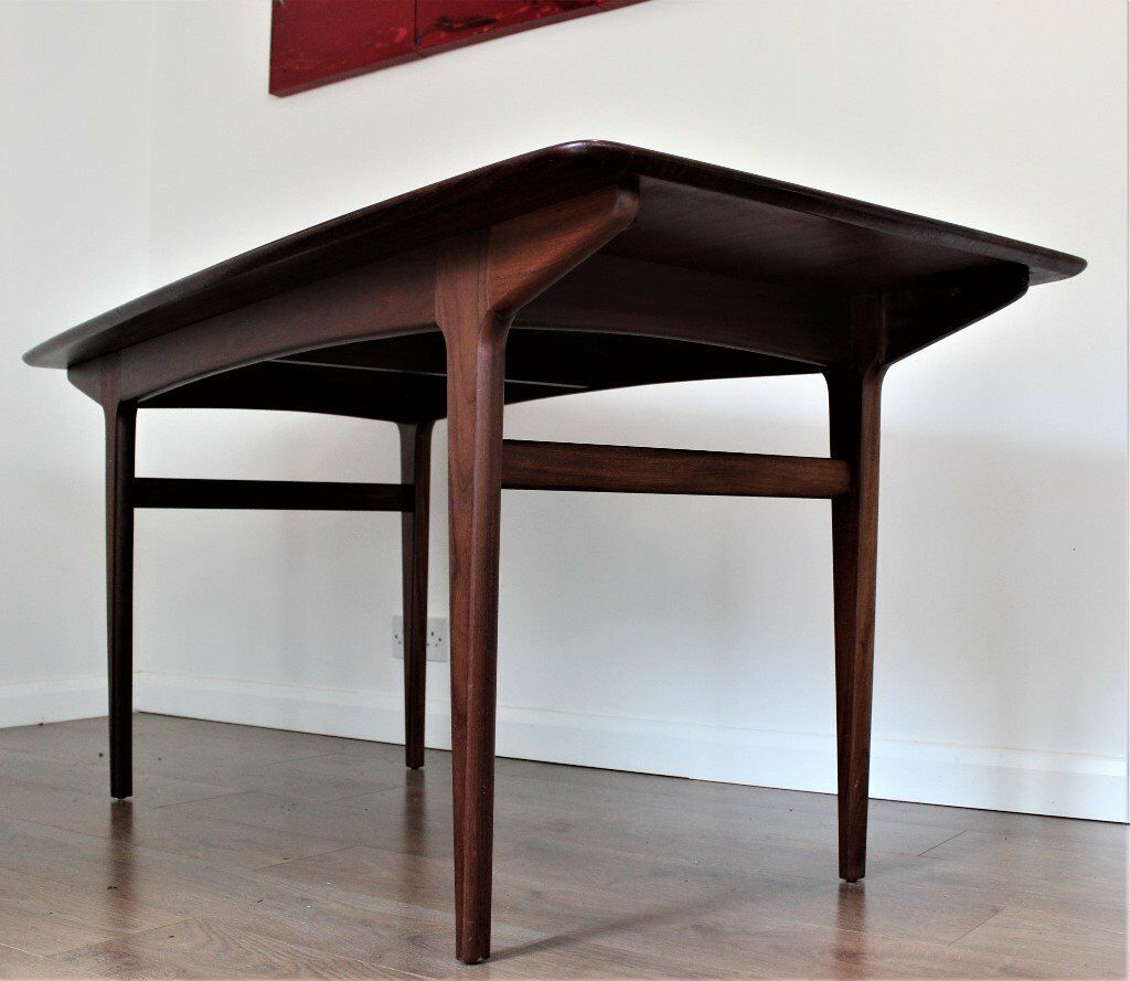 Vintage Retro Younger Afromosia Dining Table Mid Century Modern