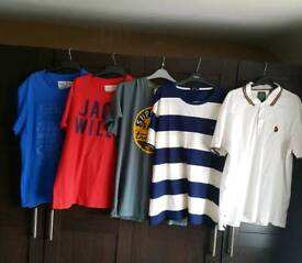 5 mens t-shirts XL