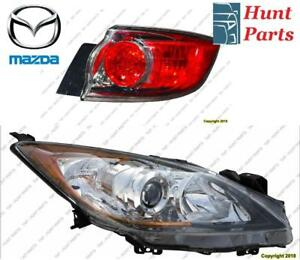 All Mazda Head Lamp Tail Headlight Headlamp light Fog Mirror Phare Avant Arrière Antibrouillard Lumière Miroir