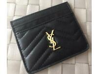 YSL credit card holder man woman unisex black quilted