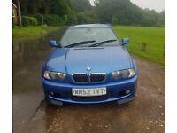 BMW E46 330Ci Clubsport Estoril Blue Manual M Sport