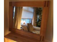 NEXT Large Solid Oak Framed Mirror
