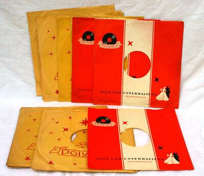 13  ORIG. SCHALLPLATTENHÜLLEN -COVER- SCHELLACK 25 CM der Firma Polydor C174