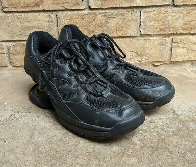 Z Coil Freedom Classic Leather Lace Up Orthotic Shoes Men's 11M Black Comfort