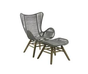 HAGUE ROPE LOUNGE CHAIR & FOOTREST