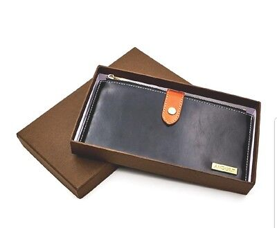 Women's Genuine Leather Multi Credit Card Holder Wallet RFID Blocking FREE SHIP
