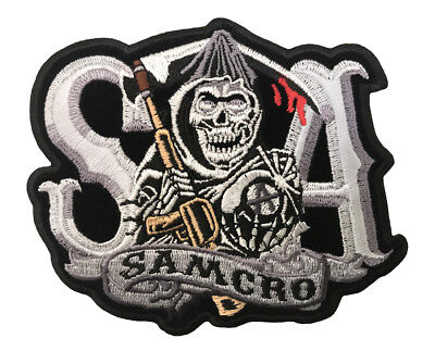 Sons Of Anarchy Patches (SONS OF ANARCHY SOA SAMCRO REAPER LICENSED BIKER PATCH IRON/ SEW)