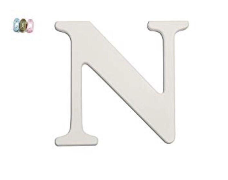 Koala Baby White Uppercase Wall Letter N New - Wood