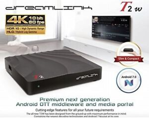 ★DREAMLINK T2 HDR 4K ★ ANDROID 7.0 TV BOX  ★IPTV ★ PVR