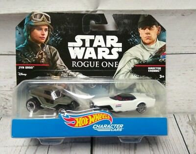 Hot Wheels Star Wars Rogue One Jyn Erso Director Krennic 2 Pack Character Cars