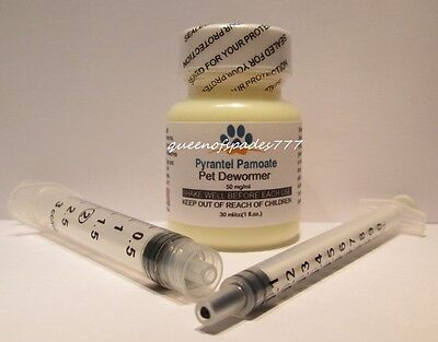 Liquid Dog Wormer - Pet Dewormer Pyrantel Wormer for Dogs,Puppies,Cats,Kittens- Vanilla Liquid 30 ml