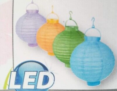LED Laterne Garten Dekoration Papierlaterne batteriebetrieben Lampion Deko Licht ()