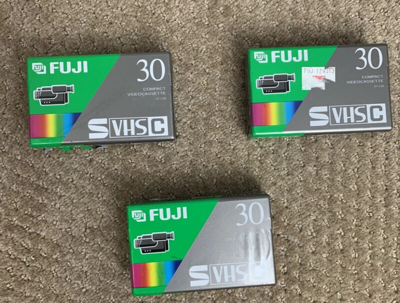 Fuji S-VHS C 30 Compact Videocassette Brand New Sealed