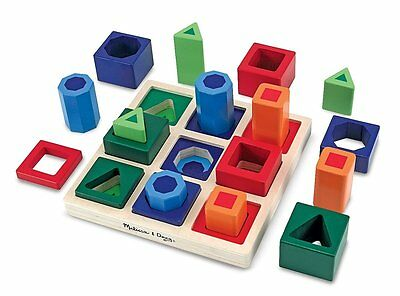 Melissa & Doug Shape Sequence Wooden Sorting Set and Educational Toy - Brand New
