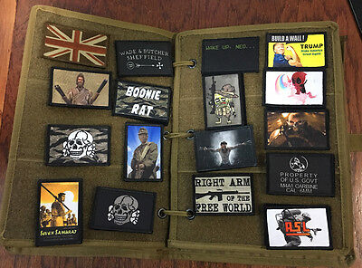 "12"" x 9""  Tactical Morale Patch Panel Book + BONUS FREE MORALE PATCH"