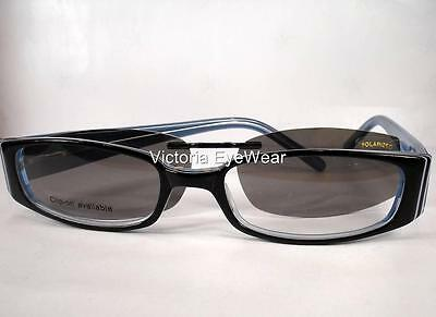 Polarized Clip 2220 Navy Women Victoria EyeWear Eyeglasses Plastic sunglasses