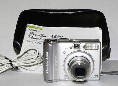 CANON POWERSHOT A520 4mp 4x ZOOM with Manual 1GB Card, Case, USB Cable VGC