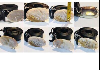 Wholesale Leather Belt Straps - Wholesale Lot 72 Unisex Faux Leather Belt Buckle Waist Strap Belts Moth Of Pearl