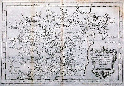 Antique map, Carte De La Tartarie Orientale
