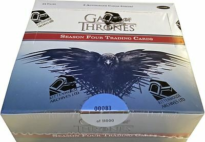 Game of Thrones Season 4 Factory Sealed Trading Card Box with Autograph