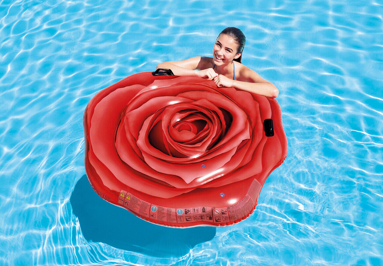 Intex Inflatable Red Rose Pool Float Sexy Flower Swimming Ma