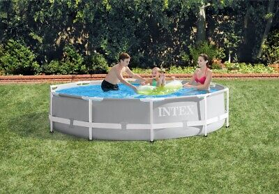 """Intex 10ft X 30in Prism Frame Pool Set with Filter  10' x 30"""" 10x30"""