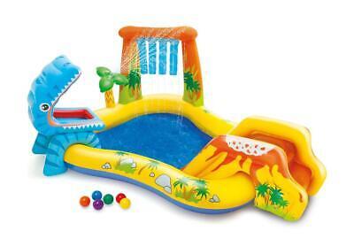 Intex Dinosaur Play Centre Paddling Pool Kids Childrens Outdoor Summer Pool