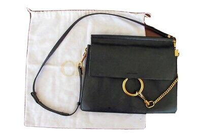 Chloe Black Leather Medium Faye Bag