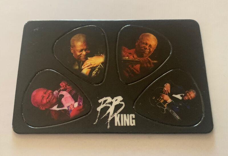 BB King Punchcard of 4 Tour Photo Guitar Picks Fan Club Merchandise