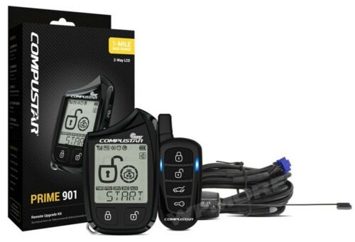 Compustar Prime RF-2W901-SS 2-Way LCD 1-Mile Range Rechargeab Remote Upgrade Kit