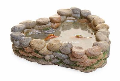 Miniature Fairy  Garden Koi Pond MG244 /Faerie/Gnome Dollhouse