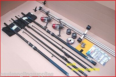 Shakespeare 13ft Sea Fishing Beach Beachcasting Rods Reels Tripod Tackle Kit Set
